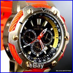 Invicta Marvel Bolt Iron Man 52mm Limited Chronograph Red Gold Plated Watch New