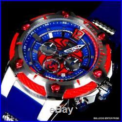 Invicta Marvel Bolt Spider Man 52mm Limited Edition Chronograph Blue Watch New
