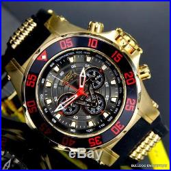 Invicta Marvel Iron Man 52mm Limited Ed Chronograph Black Gold Plated Watch New