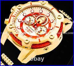Invicta Marvel Iron Man Bolt 18K Gold Plated Chronograph LE Black Strap Watch
