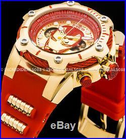 Invicta Marvel Iron Man Tony Stark Avengers Bolt Chronograph Red Gold LE Watch