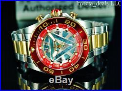 Invicta Marvel Men's 48mm IRON MAN Chrono Limited Edition Gold Two Tone SS Watch