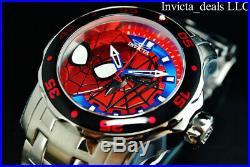 Invicta Marvel Men's 48mm Pro Diver SCUBA SPIDERMAN Limited Edition Silver Watch