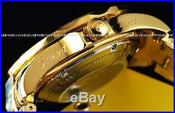 Invicta Men 300M Grand Diver Automatic Polished 18K Gold IP Black MOP Dial Watch