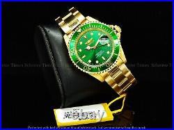 Invicta Men 40mm Original PRO DIVER SUB MARINER Coin Bezel Quartz Green GT Watch