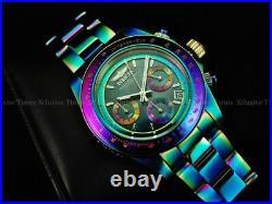 Invicta Men 40mm Prismatic Speedway Chrono Platinum Blk MOP IRIDESCENT SS Watch
