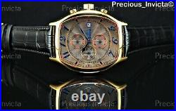 Invicta Men 43mm Lupah Tonneau Specialty Chrono Watch With3 Croco Embossed Straps