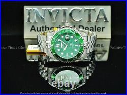 Invicta Men 43mm Original Coin Edge PRO DIVER Green Dial Jubilee Bracelet Watch