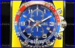 Invicta Men 45mm PILOT SPECIALTY TACHYMETER Quartz Chronograph Blue Dial Watch