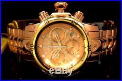 Invicta Men 46MM Venom Swiss Movt Chrono 18K Rose Gold Plated High Polish Watch