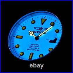 Invicta Men 47mm Full Luminous Dial Grand Diver Automatic Black Strap SS Watch