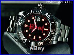 Invicta Men 47mm GRAND DIVER AUTOMATIC COMBAT Triple Black Red Accents SS Watch