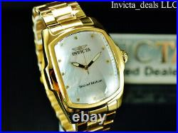 Invicta Men 47mm GRAND LUPAH WHITE MOP Dial DIAMOND Special Edition Gold Watch