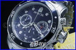 Invicta Men 48 MM Pro Diver Scuba Blue Dial Chronograph S. S Bracelet Watch NEW