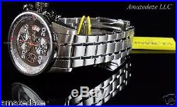 Invicta Men 48mm Aviator Stainless Steel Tachymeter Grey Dial Chronograph Watch