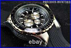 Invicta Men 50mm AVIATOR VOYAGE Multi Function Black Dial Silicone Strap Watch