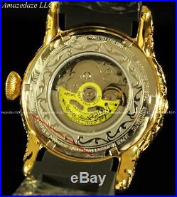Invicta Men 50mm Empire Dragon Automatic Open Heart Dial Sapphire Crystal Watch