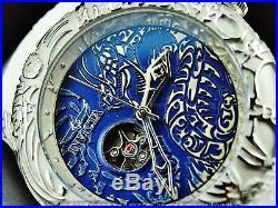 Invicta Men 50mm Maori DRAGON Automatic Open Heart Sapphire Crystal Strap Watch