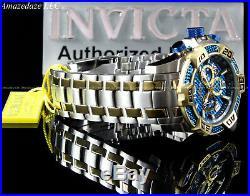 Invicta Men 50mm ProDiver SCUBA Chrono Blue Fiber Glass 2 Tone Stainless St Watc