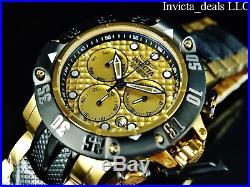 Invicta Men 50mm Subaqua God Of The Sea Poseidon Swiss Chrono 18K GP 2Tone Watch