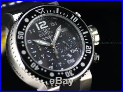 Invicta Men 52mm Burst Charcoal Grand Ocean Voyage Chronograph Sandwich SS Watch