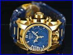 Invicta Men 52mm Reserve Bolt Zeus MAGNUM Blue Gold Swiss Chrono Dual Time Watch