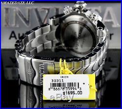 Invicta Men 52mm Reserve KING COBRA VENOM Swiss Chronograph Stainless St. Watch