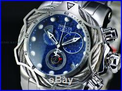 Invicta Men 52mm Reserve VENOM Bolt Hybrid Cobalt Blue Swiss ETA Chrono SS Watch