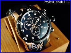 Invicta Men 52mm Reserve Venom Swiss Made Chronograph Rose Tone Black Dial Watch