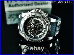Invicta Men 52mm SPEEDWAY VIPER Gen III Chronograph BLACK DIAL Silver Tone Watch