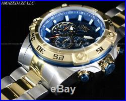 Invicta Men 52mm Speedway Viper Chronograph Blue Dial 2Tone Stainless St. Watch