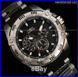 Invicta Men 52mm Speedway Viper Gen III Chronograph Black Dial Silver Tone Watch
