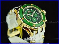 Invicta Men 52mm Subaqua High Polish Chrono Emerald Green Wood Dial White Watch