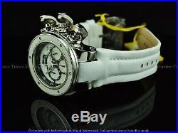 Invicta Men 52mm Subaqua Sea Dragon Torpedo Chrono Wooden Dial White Strap Watch