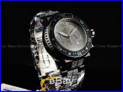 Invicta Men 52mm XL Black OP'S PD Combat Seal Chrono Bracelet SS Watch 500m