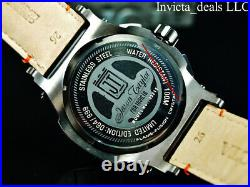 Invicta Men 53mm JT Knight Rider Chrono BLACK Dial Limited Edition Leather Watch