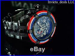 Invicta Men 54mm Bolt Zeus Tri Cable Koi Fish & Dragon COMBAT Triple Black Watch