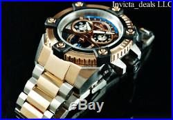 Invicta Men 63mm Reserve Grand ARSENAL Swiss Chronograph Rose Two Tone SS Watch