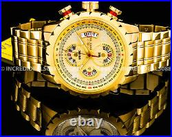 Invicta Men AVIATOR BOLT HYBRID Flight Series Chronograph 18Kt Gold Pilot Watch
