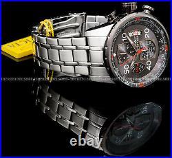 Invicta Men AVIATOR CHRONOGRAPH Date Gunmetal Dial Silver POLISHED 48mm Watch