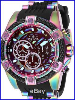 Invicta Men Bolt Chrono 100m Iridescent Stainless Steel/Silicone Watch 28020