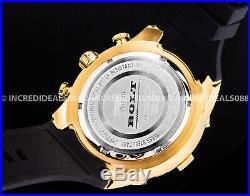 Invicta Men Bolt Chronograph 18K Gold Dial & Black Polyurethane Strap SS Watch