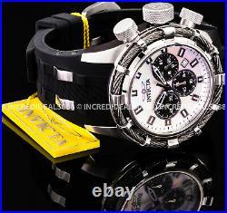 Invicta Men Bolt Chronograph Titanium Case MOP Dial Black SS Classic Watch 32961