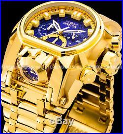 Invicta Men Bolt Zeus Magnum Chronograph Blue Dial 18Kt Gold Bracelet 52mm Watch