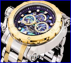 Invicta Men COALITION FORCES CHRONOGRAPH ABALONE Dial 18Kt Gold Two Tone Watch