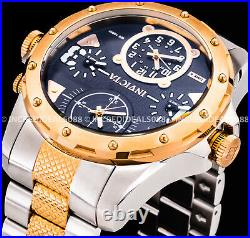 Invicta Men Coalition Forces Special Ops Chronograph Rose Gold Silver SS Watch