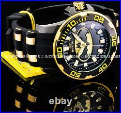 Invicta Men DC COMICS BATMAN PRO DIVER SCUBA Black Yellow Gold Dial LT ED Watch