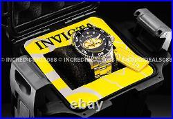 Invicta Men DC Comics BATMAN Black Gold Dial Silver Bracelet LE Watch 1 Slot Box