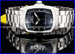 Invicta Men GRAND LUPAH DIAMOND Accent MOP Dial Silver Bracelet 47mm Bold Watch