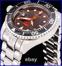 Invicta Men GRAND PRO DIVER AUTOMATIC Black Red Bezel Dial Silver Bracelet Watch